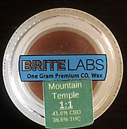 CBD Mountain Temple Wax 1 to 1 CBD - 1 Gram