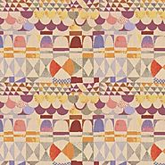 Art Deco Art Nouveau Mixed Colour Flat-Weave Curtain and Upholstery Fabric | Backhausen Art Deco Arches Light from Lo...
