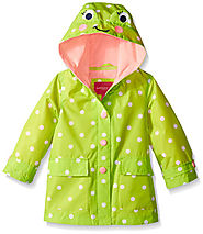 London Fog Girls' Enhanced Radiance Frog Rain Slicker