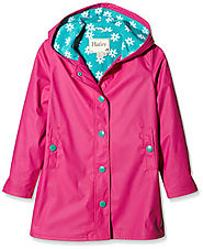 Hatley Girls' Fuchsia Daisies Splash Jacket