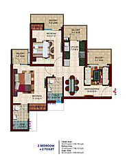 Nirala Estate Phase 2 Floor Plan for 2BHK and 3BHK Apartments
