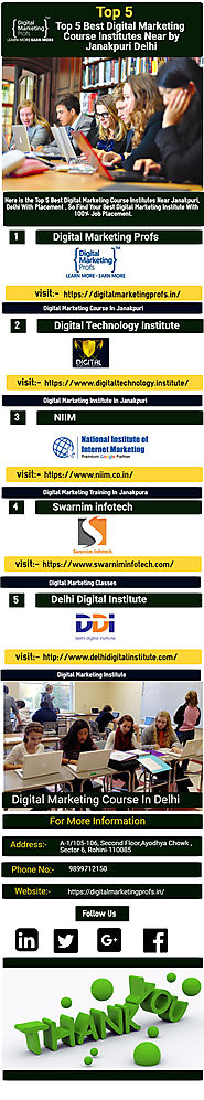 Top 5 Best Digital Marketing Course Institutes Nea Infographic Template