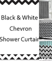 Best Black and White Chevron Shower Curtain for 2014