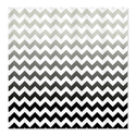 CafePress Gray and Black Ombre Chevron Stripes Shower Curtai Shower Curtain - Standard White
