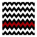 CafePress Black and Red Chevron Shower Curtain - Standard White