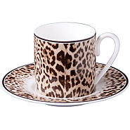 Roberto Cavalli - Jaguar Coffee Cups & Saucers - Set of 6 - Kitchen Things