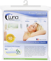 Luna Premium Hypoallergenic Bed Bug Proof Zippered Waterproof Pillow Protector (1) Standard Size - Made In The USA