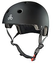 Triple Eight Certified Helmet, All Black Rubber, Small/Medium