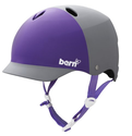 BERN Lenox Summer EPS 2-Tone Matte Helmet (Grey/Purple, Small)