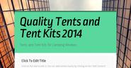 Quality Tents and Tent Kits 2014