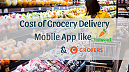 Cost of Grocery Delivery Mobile App like Instacart & Grofers