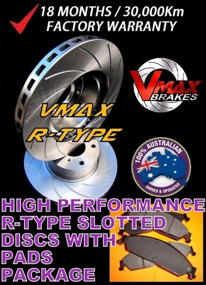 RDA FRONT DISC BRAKE ROTORS PADS for Holden Commodore VR VS V6 V8 inc UTE