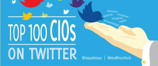 Headline for Top CIOs to follow on Twitter