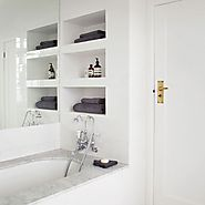 Recessed storage for small bathrooms