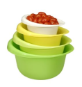 Cook Pro 4 piece Mixing Bowl Set: Amazon.com: Kitchen & Dining