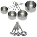 Amazon.com: Onesource 8-Piece Deluxe Stainless Steel Measuring Cup and Measuring Spoon Set: Kitchen & Dining