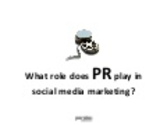 The role of PR in social media