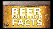 Know The Beer Nutrition Facts