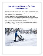 Snow Removal Devices For Easy Winter Survival