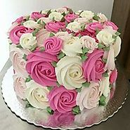 Floral Arrangement of Cake for Wedding