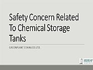 Safety Concern Related To Chemical Storage Tanks