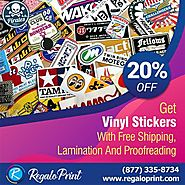 Get Vinyl Stickers with Free Shipping, Lamination and Proofreading | RegaloPrint