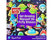Get Amazing 20% Discount on Puffy Stickers | RegaloPrint