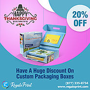 Have A 20% Discount On Custom Packaging Boxes | RegaloPrint