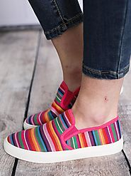 Colorful & Striped Women's Designer Shoes & Canvas Collection By Southern Honey.