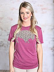 Purple Leopard Buffalo Tee | Southern Honey Boutique