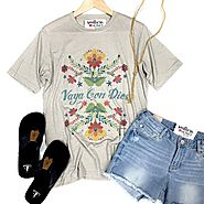 Vaya Con Dios ~ This new graphic tee is... - Southern Honey Boutique | Facebook