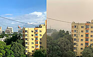 These Then & Now Pictures Of Delhi-NCR Show How Serious The Air Crisis Is - Viral Bake