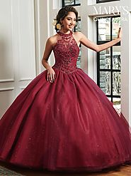 Marys Quinceanera Dresses | Style - MQ1019 in Navy, Wine, or White Color