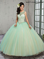 Marys Quinceanera Dresses | Style - MQ2014 in Mint, Wine, or White Color