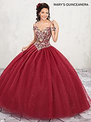 Marys Quinceanera Dresses | Style - MQ1001 in Wine, Lilac, White, Gold Color