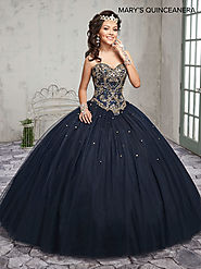 Marys Quinceanera Dresses | Style - MQ1008 in Blueberry, Wine, or White Color