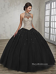 Marys Quinceanera Dresses | Style - 4Q509 in Champagne, Black, Wine, White Color