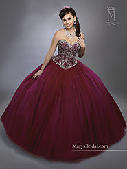 Marys Quinceanera Dresses | Style - 4781 in Champagne, Royal, Wine, or White Color