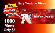 Italy Youtube Views | High Quality View Here Buy Views Like