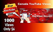 Canada Youtube Views | Buy Views Like