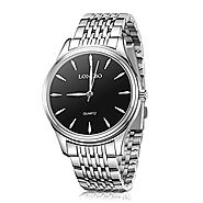 LONGBO Couple Stainless Steel Watch Dress Business Wrist Watches Fashion and Waterproof Couple Watches