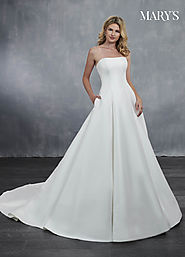 Bridal Wedding Dresses | Style - MB3051 in Ivory/Blush, Ivory, or White Color