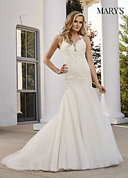 Bridal Wedding Dresses | Style - MB3058 in Ivory/Rum Pink, Ivory, or White Color