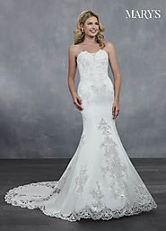 Bridal Wedding Dresses | Style - MB3053 in Ivory or White Color