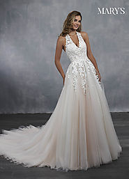 Bridal Wedding Dresses | Style - MB3047 in Ivory/Blush, Ivory, or White Color