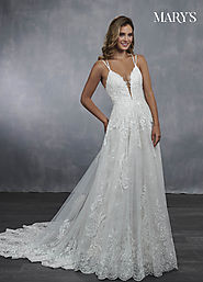 Bridal Wedding Dresses | Style - MB3045 in Ivory/Almond, Ivory, or White Color