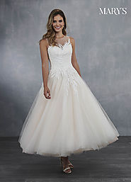 Bridal Wedding Dresses | Style - MB3049 in Ivory/Blush, Ivory, or White Color