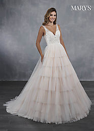 Bridal Wedding Dresses | Style - MB3068 in Ivory/Blush, Ivory, or White Color
