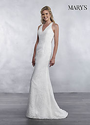 Bridal Wedding Dresses | Style - MB1035 in Ivory or White Color