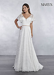 Bridal Wedding Dresses | Style - MB1030 in Ivory or White Color